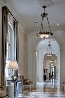 View of a Chandelier in the Crespi Hicks Estate Home in Preston Hollow