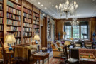 Library in the Crespi Hicks Estate Home