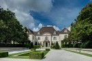 Formal Motor Court of the Crespi Hicks Estate in Preston Hollow