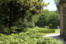 Path from Guest House To Rear Gardens of Crespi Hicks Estate Home