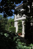 Peek of the Side Facade of the Crespi Hicks Estate Home