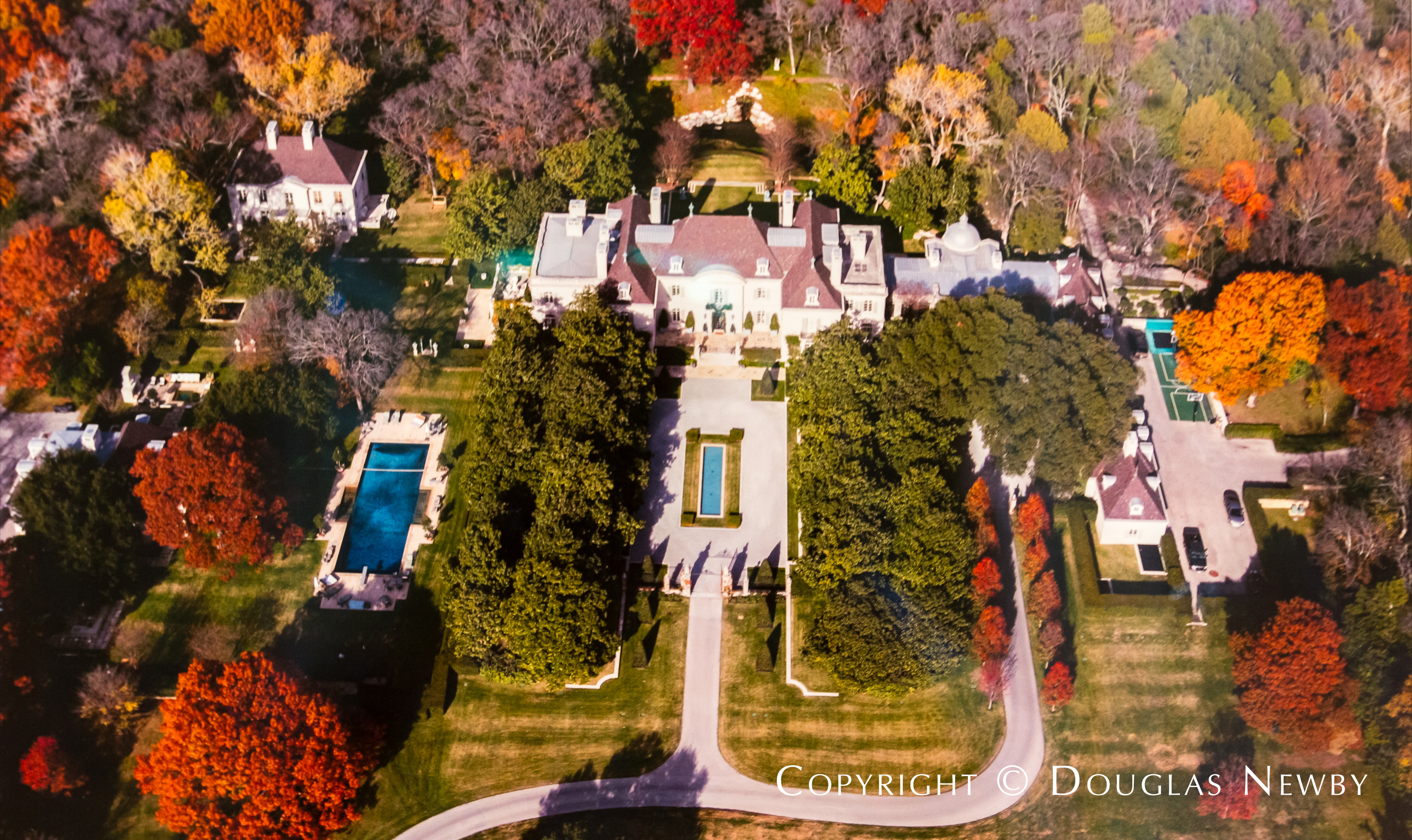 Arial View of the Crespi Hicks Estate Located in the Mayflower Estates Neighborhood