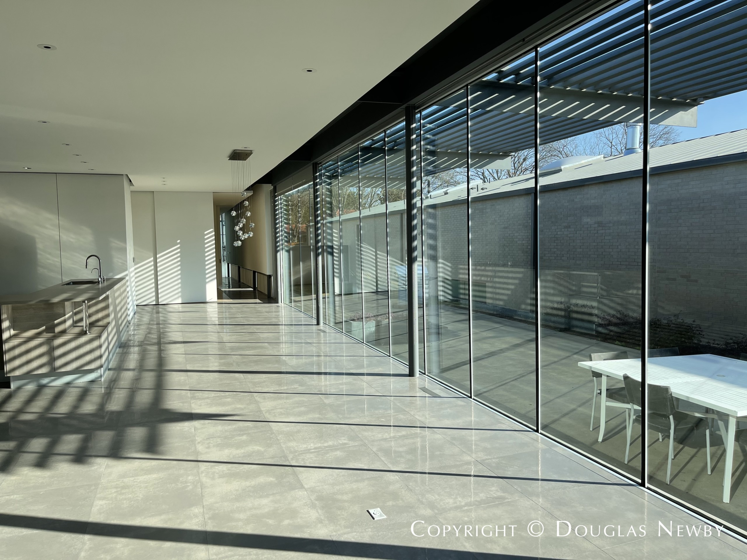Wall of glass at Urban Reserve home