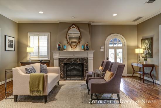 Living Room of Highland Park Home