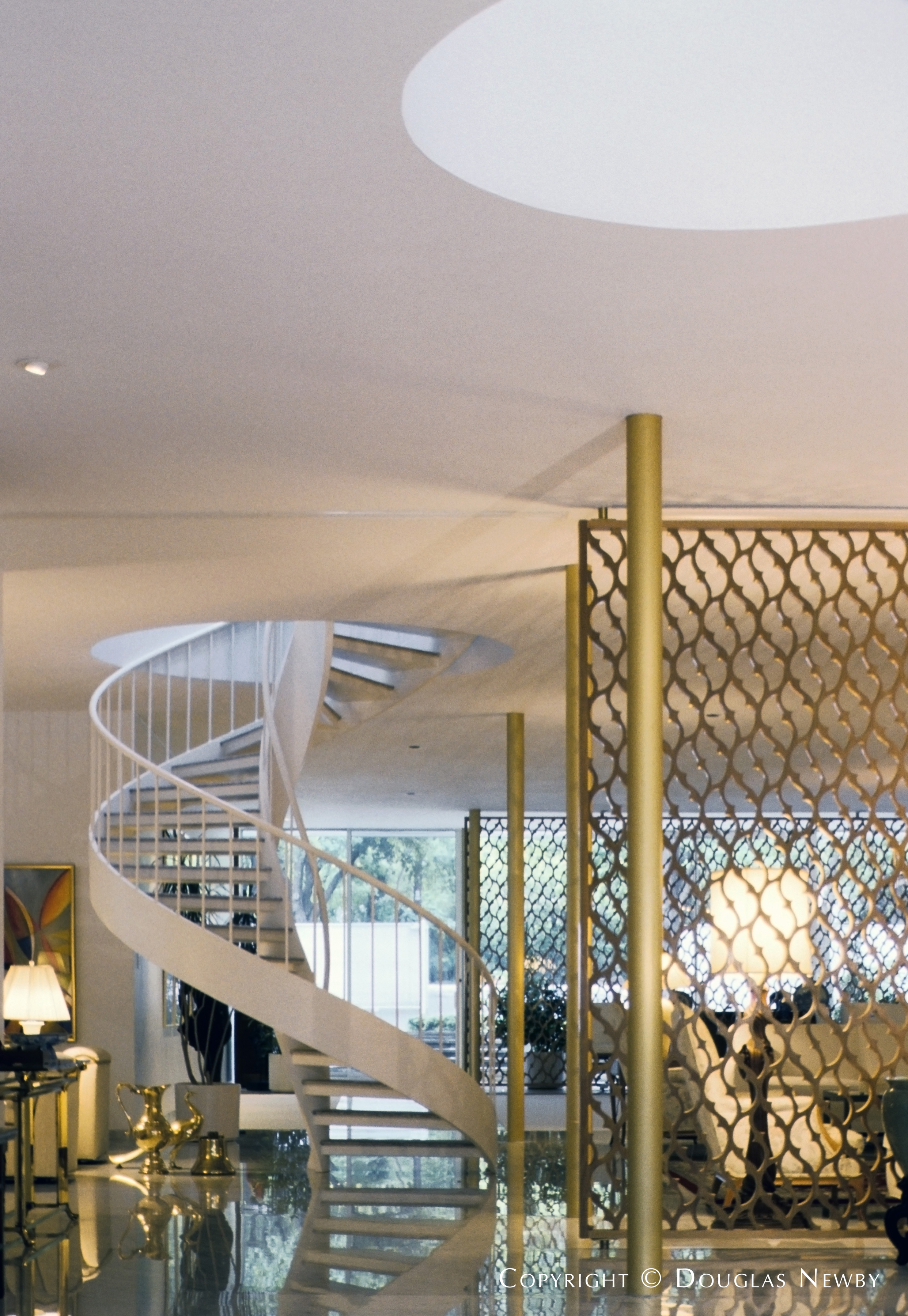 Spiral Staircase at Edward Durell Stone Designed Home