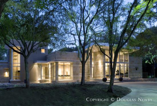 Texas Modern Estate Home Designed by Architect Steve Chambers - 5006 Shadywood Lane