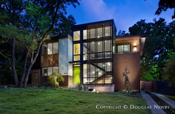 Twilight Exterior of Labron Residence