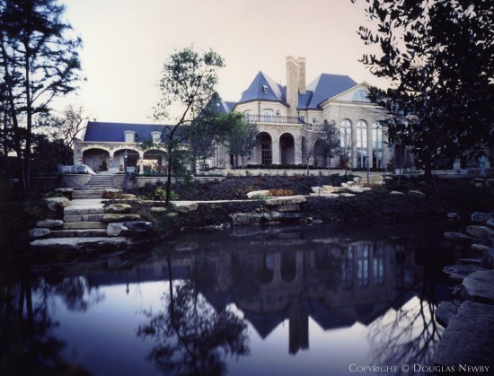 French Renaissance Estate Home Designed by Architect Elby Martin & Associates - 4404 Valley Ridge Road