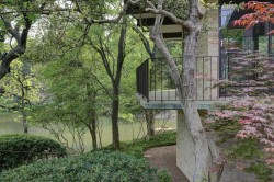 8.Rear Exterior Detail of Living Room and Balconies of Texas Modern