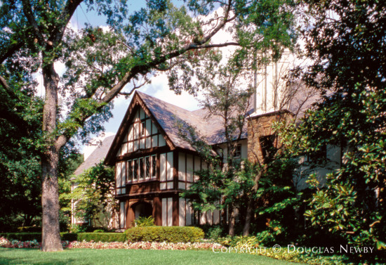 Tudor Estate Home Designed by Architect Thomson & Swaine - 6920 Turtle Creek Boulevard
