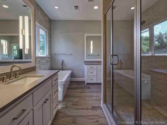 Large Shower in Munger Place Home