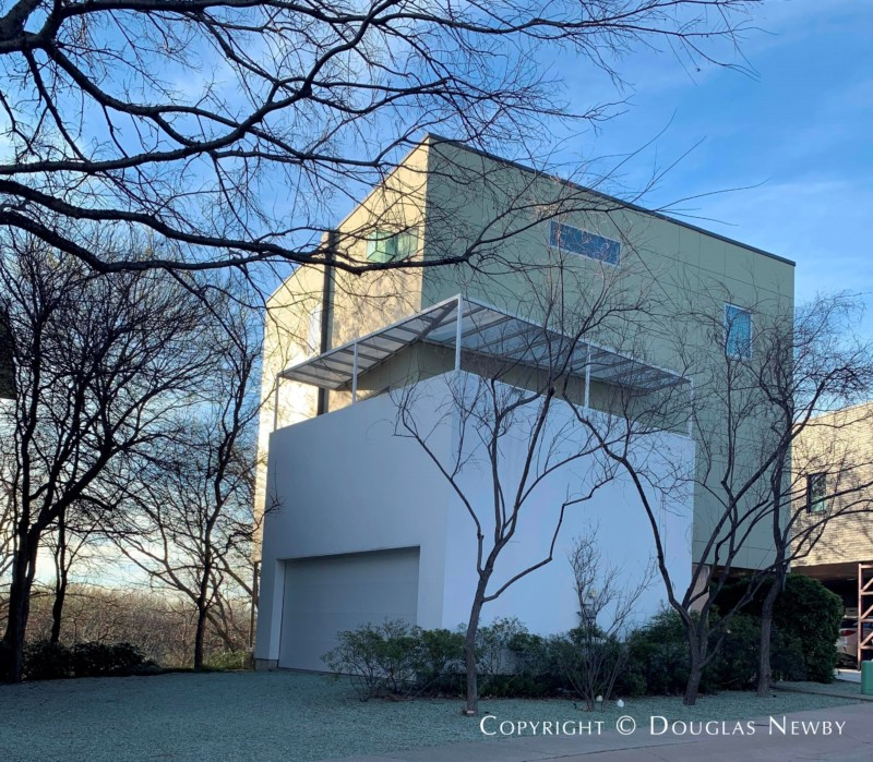 Modern Home Designed by Architect Russell Buchanan in Urban Reserve Neighborhood at 19 Vanguard Way, East Dallas