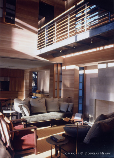 Living Room by Paul Draper in Architect Max Levy Designed Home